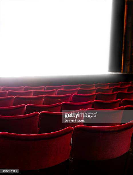 Cinema screen and seats, Stockholm, Sweden