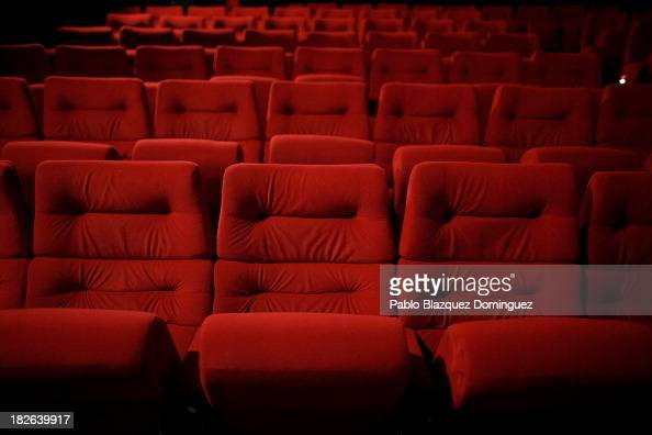Cinema seats are empty at Cuatro Caminos Renoir Cinemas hours before it closes for good on September 30 2013 in Madrid Spain The Renoir Cinema will...