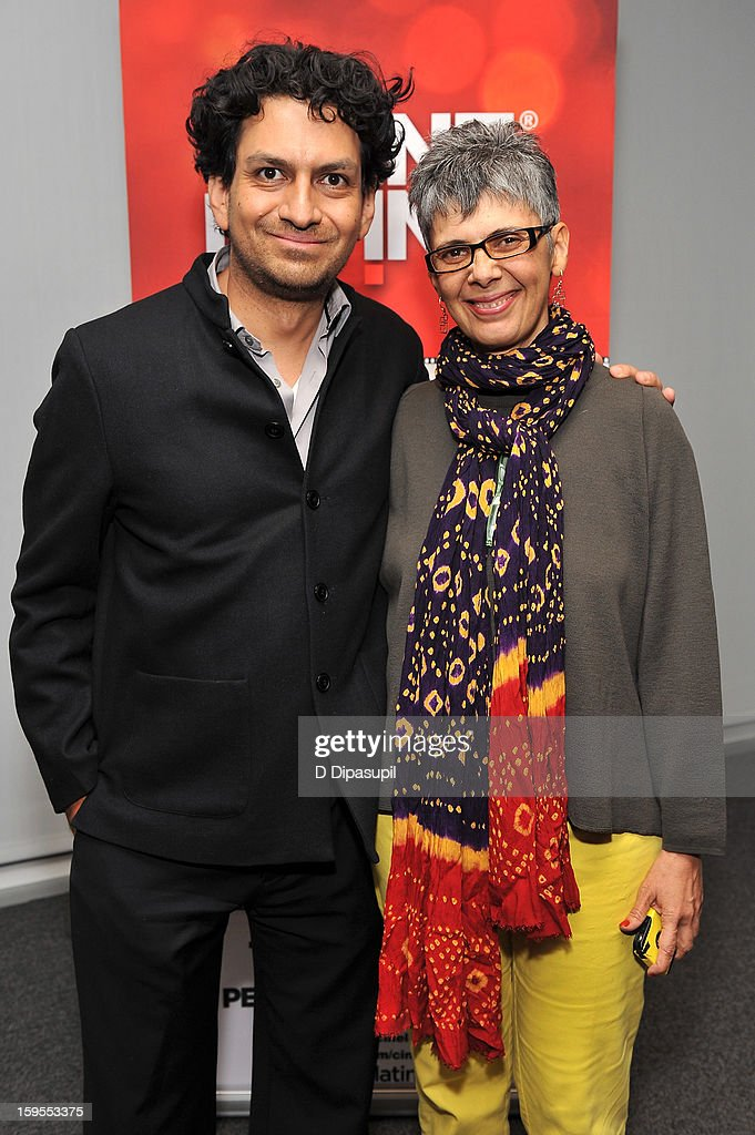 Cinema Tropical co-founder Carlos A. Gutierrez (L) and filmmaker Paula Heredia attend the 3rd annual Cinema Tropical awards at The New York Times Headquarters on January 15, 2013 in New York City.