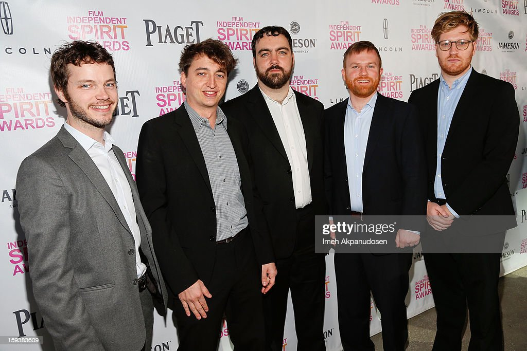 Cinematographer Ben Richardson, director Benh Zeitlin and producers Josh Penn, Michael Gottwald and Dan Janvey attend the 2013 Film Independent Filmmaker Grant And Spirit Award Nominees Brunch at BOA Steakhouse on January 12, 2013 in West Hollywood, California.