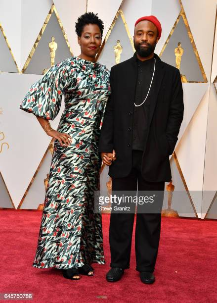 Cinematographer Bradford Young and guest attend the 89th Annual Academy Awards at Hollywood Highland Center on February 26 2017 in Hollywood...
