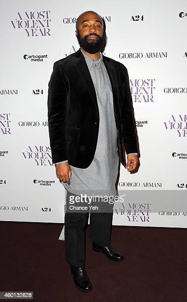 Cinematographer Bradford Young attends 'A Most Violent Year' New York Premiere at Florence Gould Hall on December 7 2014 in New York City