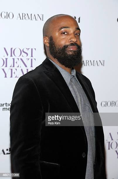 Cinematographer Bradford Young attends Giorgio Armani Presents The New York Premiere Of A24's 'A Most Violent Year' at Florence Gould Hall Theater on...