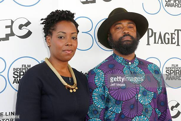 Cinematographer Bradford Young attends the 2015 Film Independent Spirit Awards at Santa Monica Beach on February 21 2015 in Santa Monica California