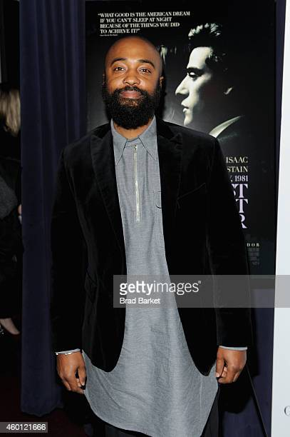 Cinematographer Bradford Young attends the New York premiere of 'A Most Violent Year' at Florence Gould Hall on December 7 2014 in New York City