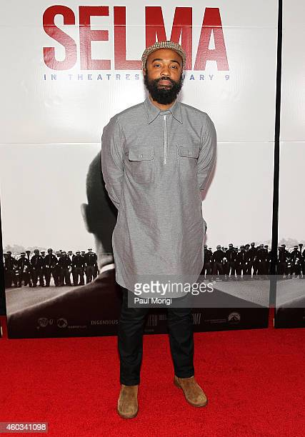 Cinematographer Bradford Young attends the 'Selma' Washington DC Premiere at The Newseum on December 11 2014 in Washington DC