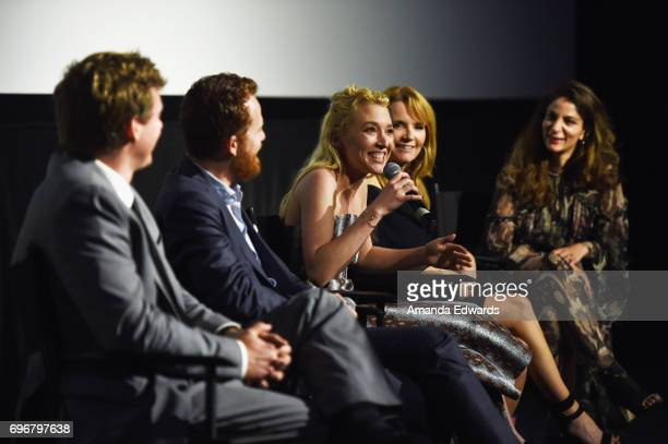 Cinematographer Bryan Koss producer Damiano Tucci screenwriter Madelyn Deutch director Lea Thompson and LA Film Festival Director of Programming Roya...