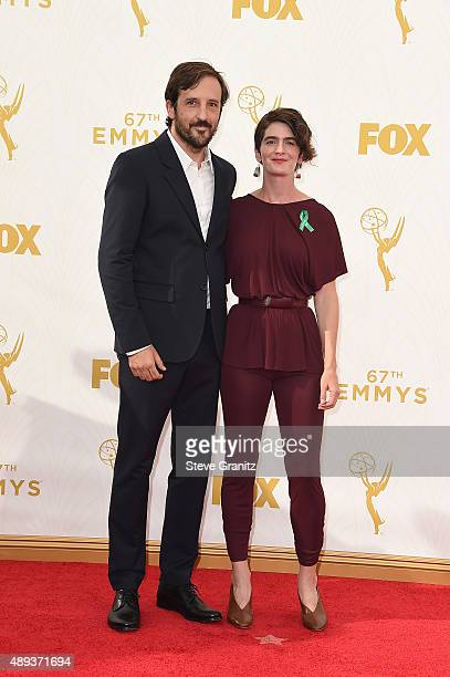 Cinematographer Chris Dapkins and actress Gaby Hoffmann attend the 67th Annual Primetime Emmy Awards at Microsoft Theater on September 20 2015 in Los...