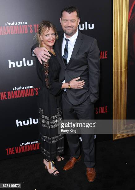 Cinematographer Colin Watkinson and guest attend premiere of Hulu's 'The Handmaid's Tale' at ArcLight Cinemas Cinerama Dome on April 25 2017 in...
