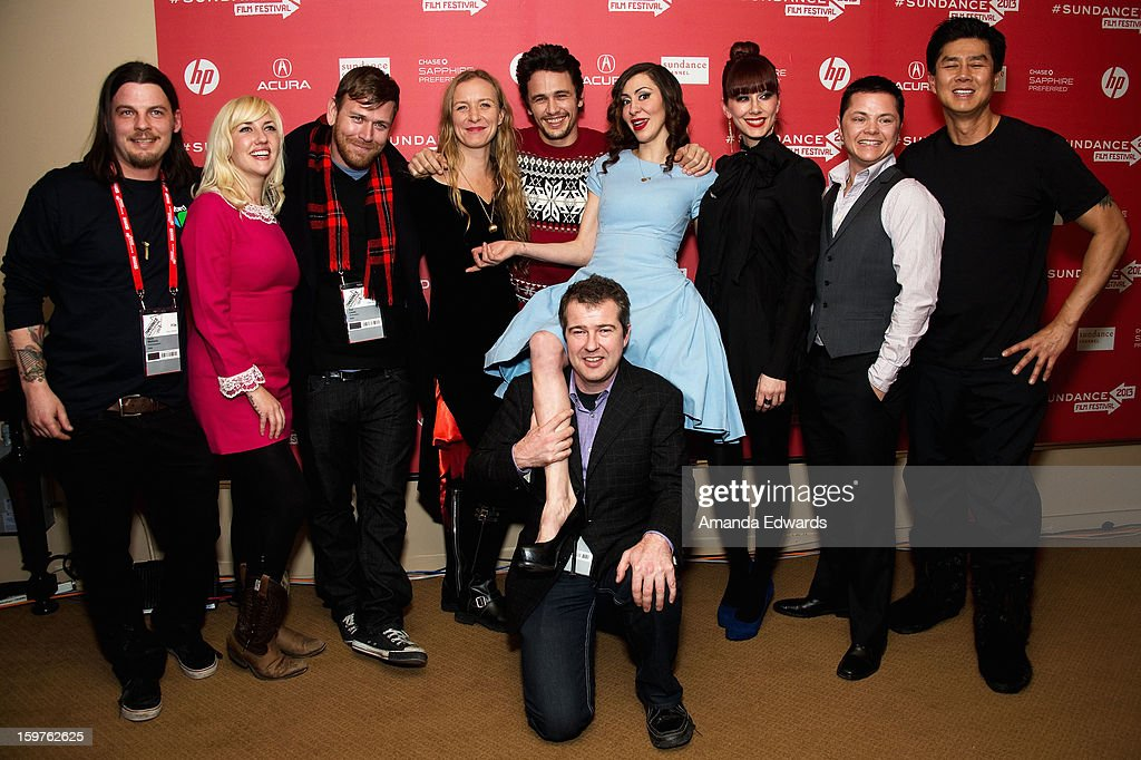 Cinematographer Dave Malloure, director Christina Voros, executive producer James Franco, Peter Acworth, Princess Donna and Maitresse Madeline attend the 'Kink' premiere at Egyptian Theatre during the 2013 Sundance Film Festival on January 19, 2013 in Park City, Utah.