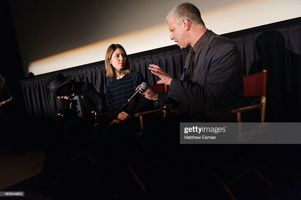 Cinematographer Ed Lachman, director <a gi-track='captionPersonalityLinkClicked' href=/galleries/search?phrase=Sofia+Coppola&family=editorial&specificpeople=202230 ng-click='$event.stopPropagation()'>Sofia Coppola</a> and First Time Fest director of programming David Schwartz attend the 'The Virgin Suicides' as part of the First Exposure Series during the 2013 First Time Fest at AMC Loews Village 7 on March 1, 2013 in New York City.