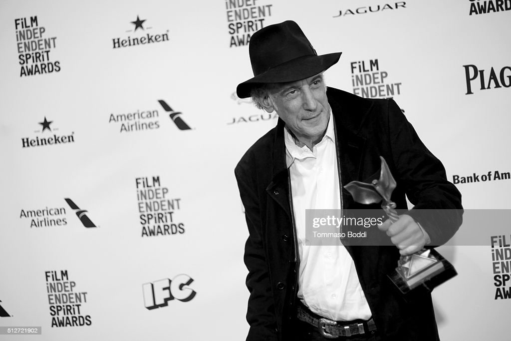 Cinematographer Ed Lachman, winner of the Best Cinematography award for 'Carol', poses in the press room during the 2016 Film Independent Spirit Awards on February 27, 2016 in Santa Monica, California.