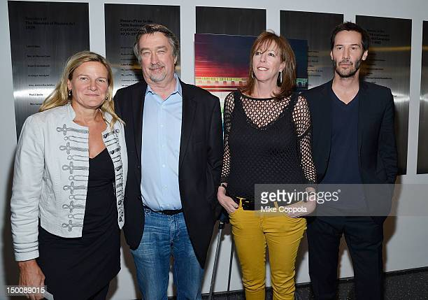 Cinematographer Ellen Kuras director Geoffrey Gilmore film producer Jane Rosenthal and actor Keanu Reeves attend the 'Side By Side' New York Premiere...