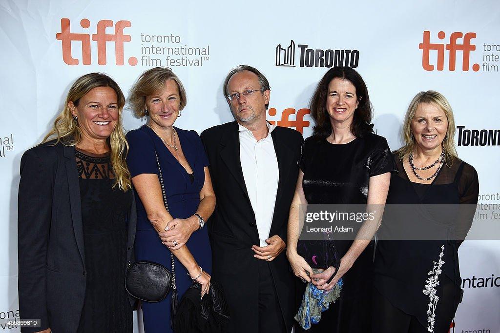 Cinematographer Ellen Kuras Producers Gail Egan Bertrand Faivre Andrea Calderwood and writer Alison Deegan attend the 'A Little Chaos' premiere...