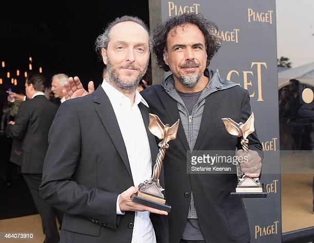 Cinematographer Emmanuel Lubezki and director Alejandro Gonzalez Inarritu attend the 30th Annual Film Independent Spirit Awards at Santa Monica Beach...
