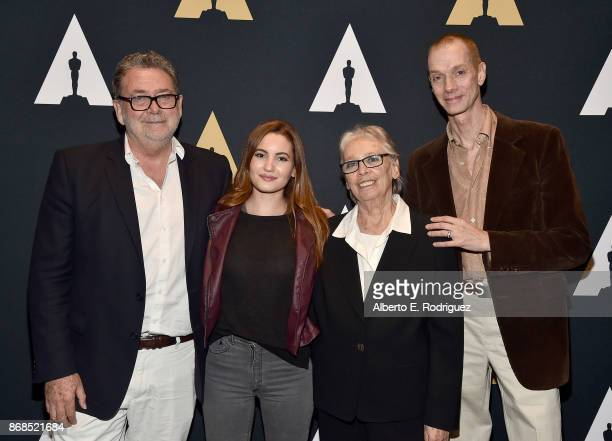Cinematographer Guillermo Navarro actress Ivana Baquero producer Bertha Navarro and actor Doug Jones attend The Academy Presents A Screening And...
