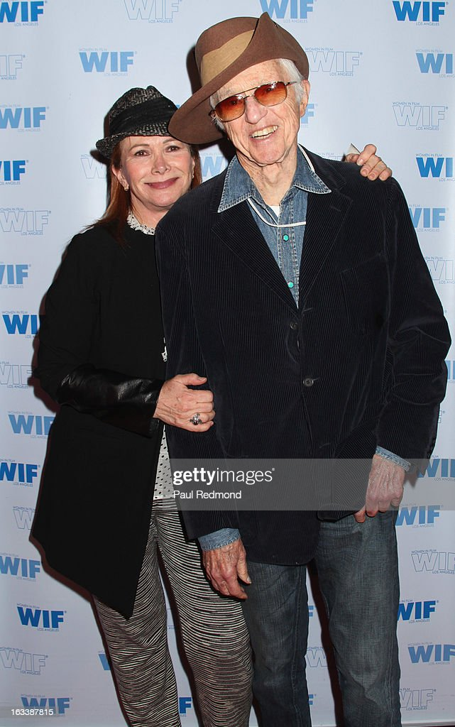 Cinematographer Haskell Wexler (R) and his wife, actress Rita Taggart attend American Cinematheque hosts Cuban Women Filmmakers US Showcase at American Cinematheque's Egyptian Theatre on March 8, 2013 in Hollywood, California.