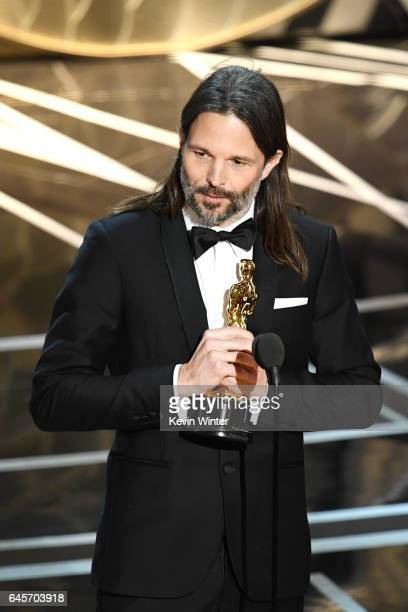 Cinematographer Linus Sandgren accepts Best Cinematography for 'La La Land' onstage during the 89th Annual Academy Awards at Hollywood Highland...