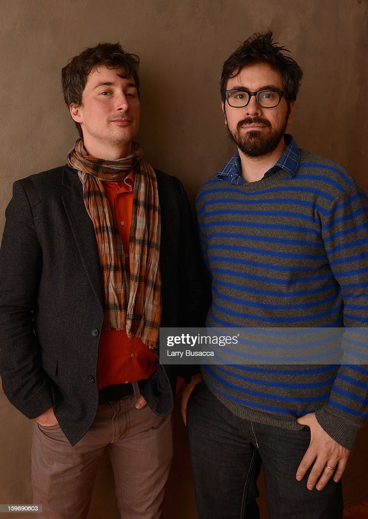 Cinematographer Matthias Grunsky (L) and director Andrew Bujalski pose for a portrait during the 2013 Sundance Film Festival at the Getty Images Portrait Studio at Village at the Lift on January 22, 2013 in Park City, Utah.