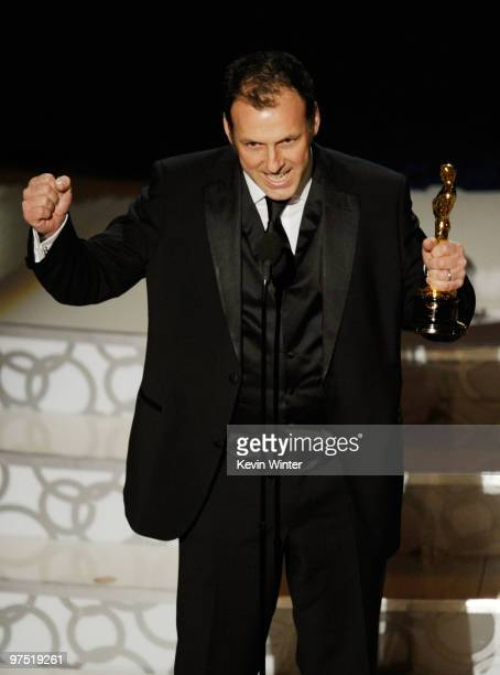 Cinematographer Mauro Fiore accepts Best Cinematography award for 'Avatar' onstage during the 82nd Annual Academy Awards held at Kodak Theatre on...