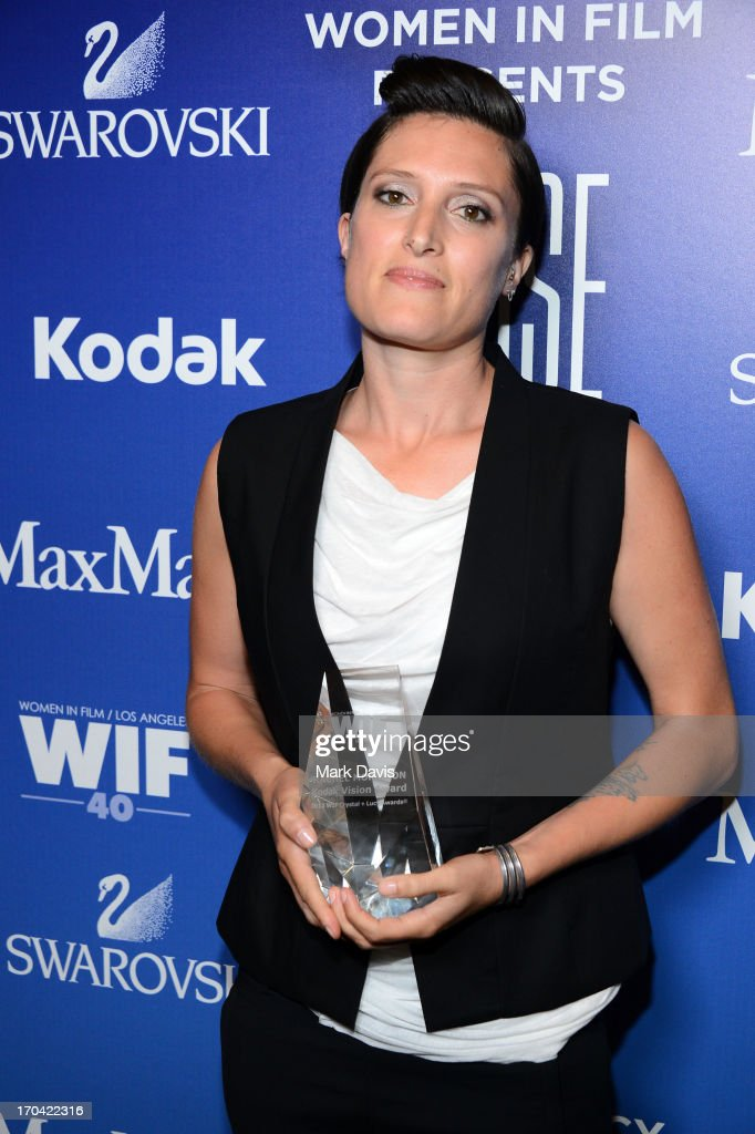 Cinematographer <a gi-track='captionPersonalityLinkClicked' href=/galleries/search?phrase=Rachel+Morrison&family=editorial&specificpeople=8807790 ng-click='$event.stopPropagation()'>Rachel Morrison</a> attends Women In Film's 2013 Crystal + Lucy Awards at The Beverly Hilton Hotel on June 12, 2013 in Beverly Hills, California.