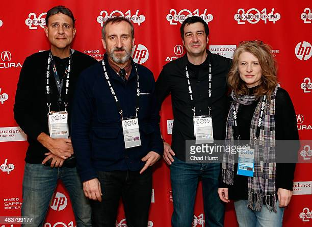 Cinematographer Rex Miller composer Chuck Johnson editor Tom Vickers and director Cynthia Hill attend the 'Private Violence' premiere at Prospector...