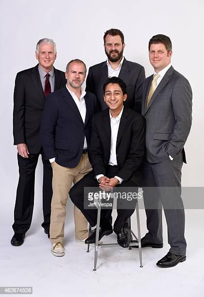 Cinematographer Robert Yeoman producer Jeremy Dawson actor Tony Revolori film editor Barney Pilling and production designer Adam Stockhausen pose for...