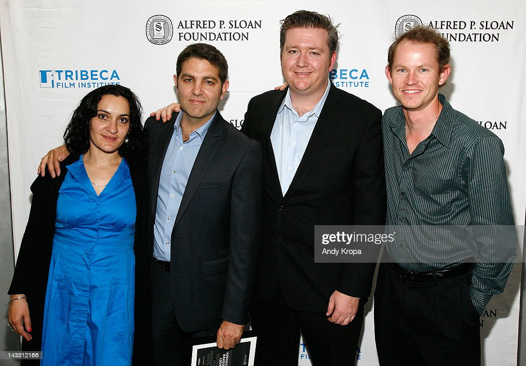 Cinematographer Sevdije Kastrati, director Casey Cooper Johnson, Casey Fenton and Pete W. Singer attend the Sloan WIP Readings & Cocktails during the 2012 Tribeca Film Festival at the Green Space on April 23, 2012 in New York City.