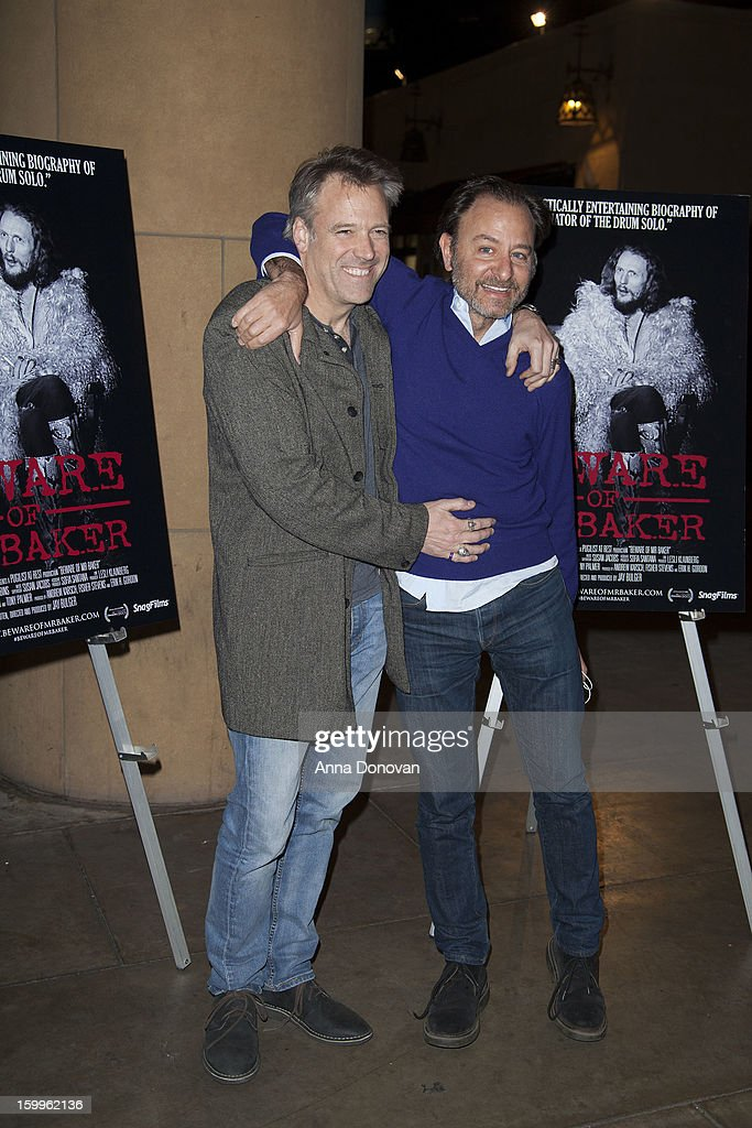 Cinematographer Wally Pfister and actor/director Fisher Stevens attends a special screening of 'Beware Of Mr Baker' at the Egyptian Theatre on...