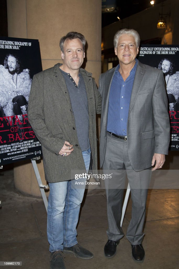 Cinematographer Wally Pfister and Rick Allen attend a special screening of 'Beware Of Mr Baker' at the Egyptian Theatre on January 23 2013 in...