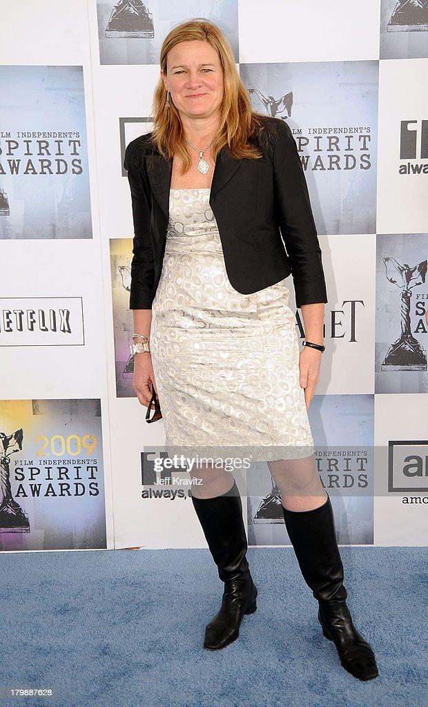 Cinematographerdirector Ellen Kuras arrives at the 2009 Film Independent Spirit Awards held at the Santa Monica Pier on February 21 2009 in Santa...