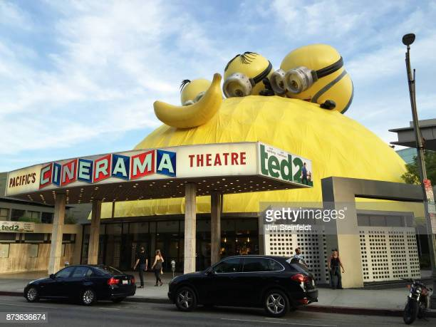 Cinerama dome featuring Despicable Me characters in Los Angeles California on June 30 2015