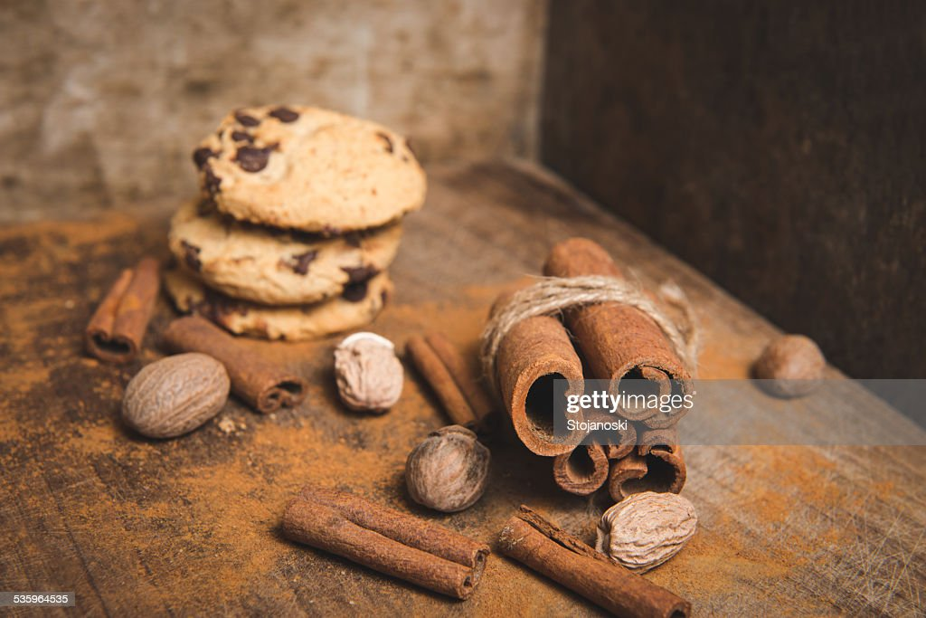 cinnamon and cookies : Stock Photo