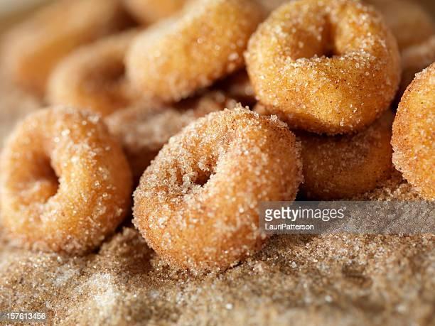 Zimt und Zucker Mini-Donuts
