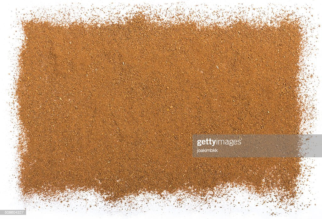 Cinnamon background isolated on white : Stock Photo
