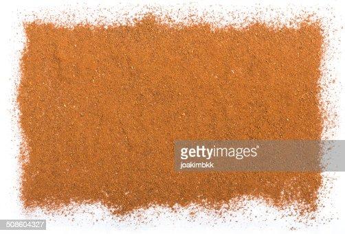 Cinnamon background isolated on white : Stock Photo
