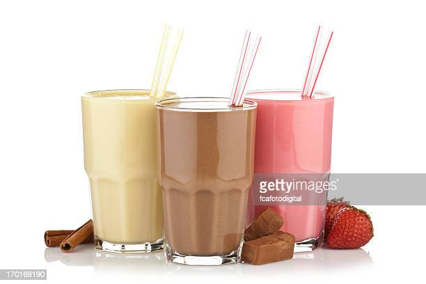 A cinnamon, chocolate, and strawberry smoothie