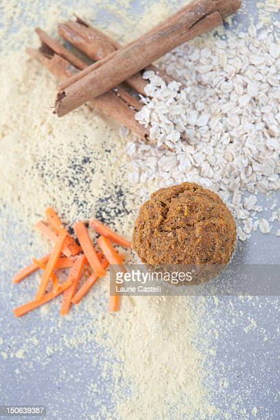 Cinnamon, grains, nuts and carrots