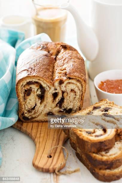 Cinnamon raisin bread for breakfast