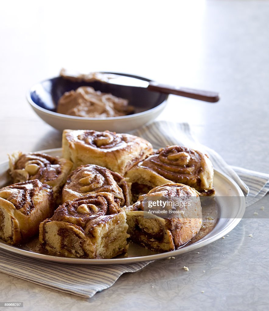 Cinnamon rolls with cinnamon butter