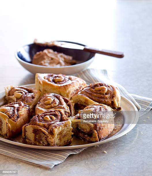 Cinnamon rolls with cinnamon butter