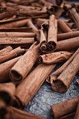 Cinnamon sticks at Roseau Market, Dominica, Lesser Antilles