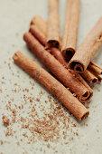 Cinnamon sticks with brown sugar