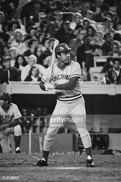Cinncinatti Reds' Tony Perez batting in game against NY Mets May 2 Shea Stadium