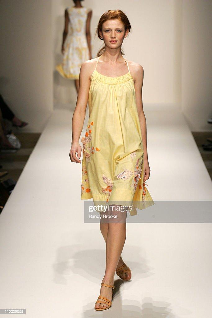 Cintia Dicker wearing Rebecca Taylor Spring 2006 during Olympus Fashion Week Spring 2006 Rebecca Taylor Runway at Celeste Bartos Forum NY Public...