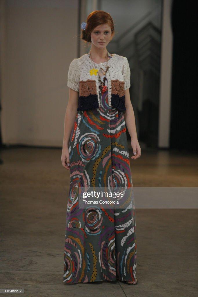 Cintia Dicker wearing Twinkle by Wenlan Spring 2007