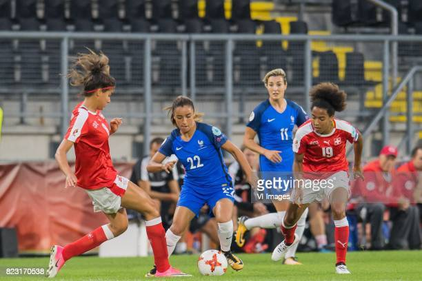 Cinzia Zehnder of Switzerland women Sakina Karchaoui of France women Claire Lavogez of France women Eseosa Aigbogun of Switzerland women during the...