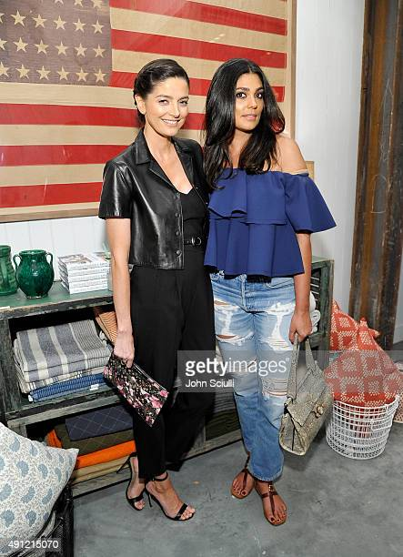 Cio Soler and Designer Rachel Roy attends Feed Supper with Lauren Bush Lauren X Nathan Turner at The Westfield on October 3 2015 in Woodland Hills...