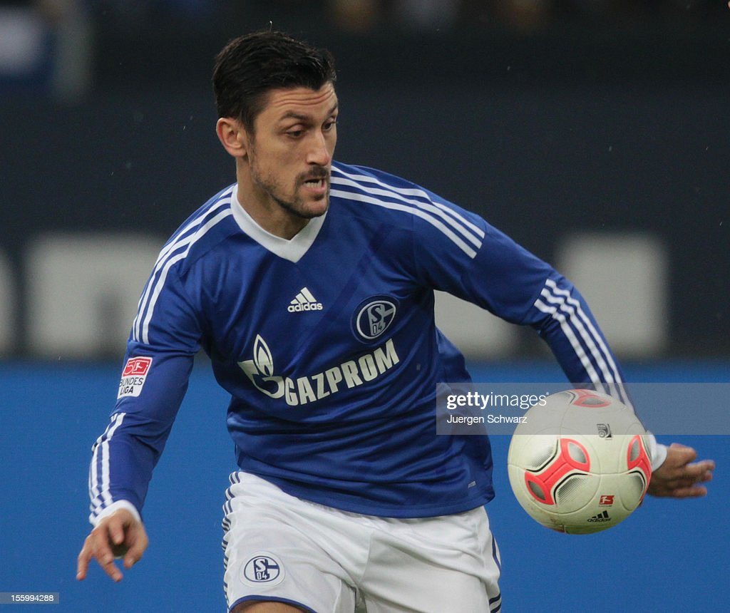 Ciprian Marica of Schalke controls the ball during the Bundesliga match between FC Schalke 04 and Werder Bremen at Veltins-Arena on November 10, 2012 in Gelsenkirchen, Germany.