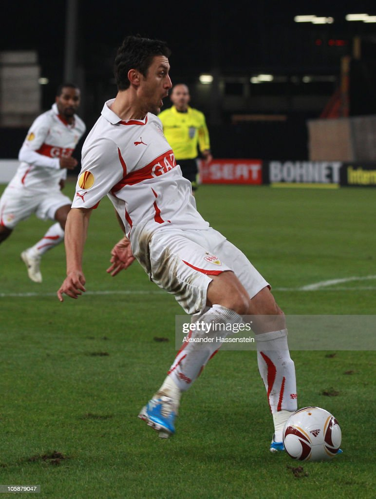 Ciprian Marica of Stuttgart scores his first team goal during the UEFA Europa League group H match between VfB Stuttgart and Getafe CF at Mercedes-Benz Arena on October 21, 2010 in Stuttgart, Germany.